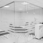 перегородка в офис: стекло каленое