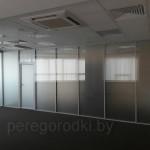 перегородки из стекла с дверью, заказать в Минске