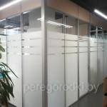 стеклянная перегородка в офис