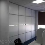 алюминиевая перегородка в офисе