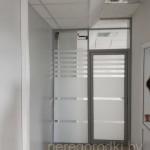 дверь в офис стеклянная алюминиевая