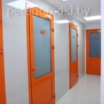 цветные двери-перегородки