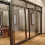 раздвижные офисные алюминиевые двери, Минск